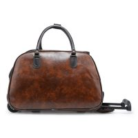 Brown Faux Leather Holdall