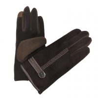 Chocolate Brown Stitched Gloves