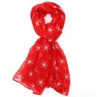 Red Snowflakes Scarf