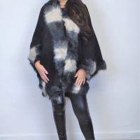 Black Mixed Fur Wrap