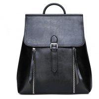 Black Shiny Backpack