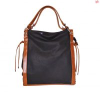 Black and Tan Slouch Bag
