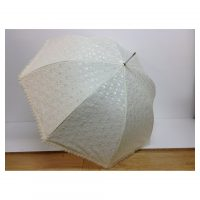 Cream Lace Frill Brolly