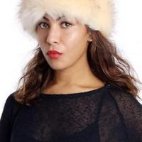 Light Cream Faux Fur Headband