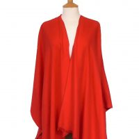 Red Plain Open Wrap