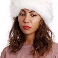White Faux Fur Headband