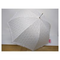 White Lace Frill Brolly