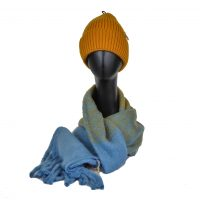 Blue Mustard Stripes Gift Set