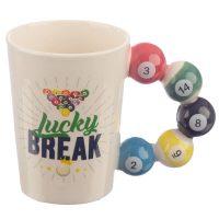 Lucky Break Pool Balls Mug