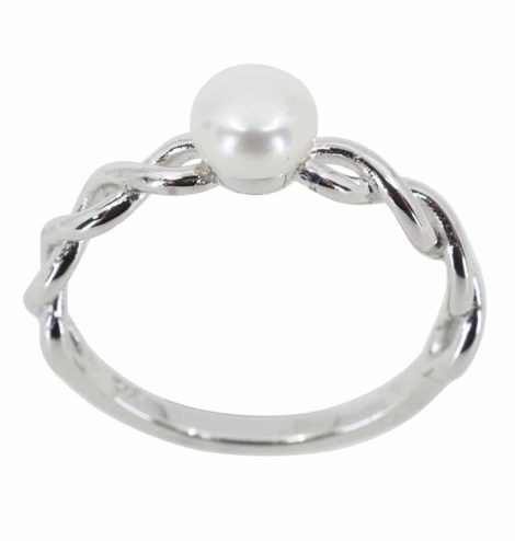 925 Freshwater Pearl Infinity Ring