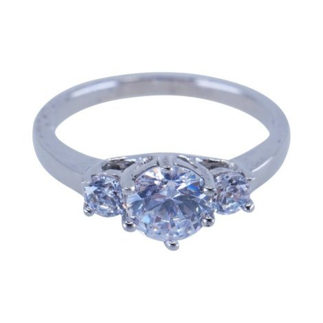 925 Silver 3 CZ Ring