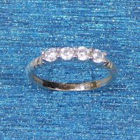 925 Silver 4 Stone Ring