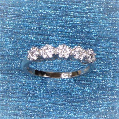 925 Silver 5 Flower Ring