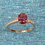 925 Silver Amethyst CZ Ring