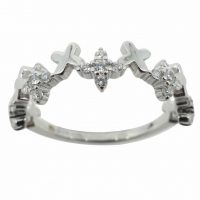 925 Silver CZ Criss Cross Ring