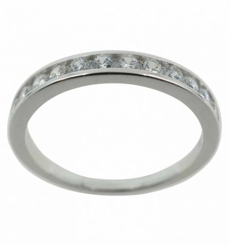 925 Silver CZ Eternity Ring