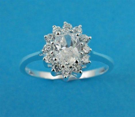 925 Silver CZ Ring