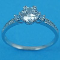 925 Silver CZ Solitaire Ring