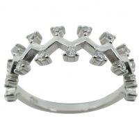 925 Silver CZ Zigzag Ring