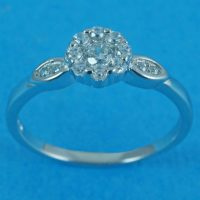 925 Silver Cluster Ring