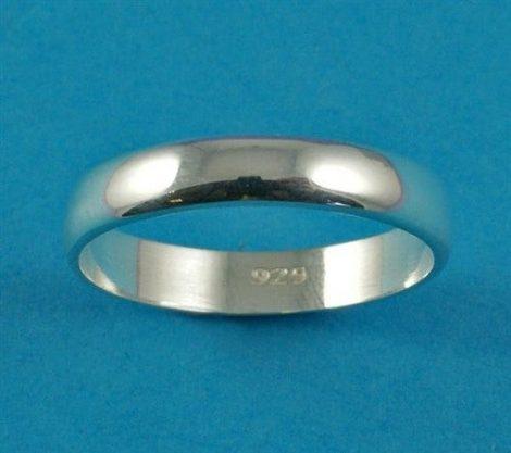 925 Silver Plain Band Ring