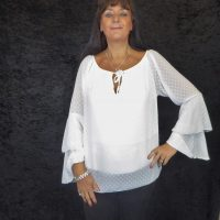 Antique White Frilled Blouse