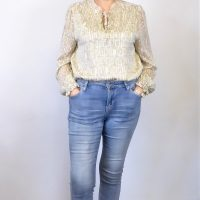 Beige and Cream Blouse
