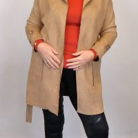 Fawn Suedette Jacket