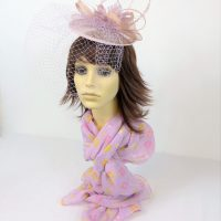 Light Pink Bow Feather Hatinator