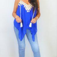 Royal Blue Tassel Top