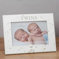 Bambino Resin Twins Photo Frame, Beautiful Keepsakes for your little ones for that Special Occasion