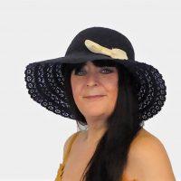Navy Blue Summer Hat