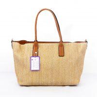 Brown Weave Shopper Tote