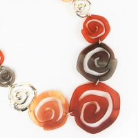 Coloured Marbled Swirls Necklace