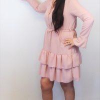 Dusky Pink Ruffle Dress