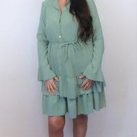Peppermint Green Ruffle Dress