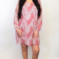Salmon Pink and Cream Dress