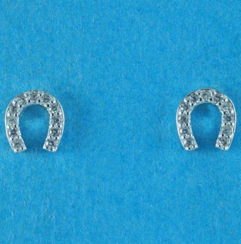 925 Silver Lucky Horseshoe Earrings