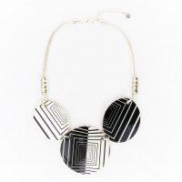 Black and White Retro Necklace