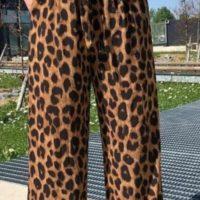 Wide Leg Animal Palazzo Trousers