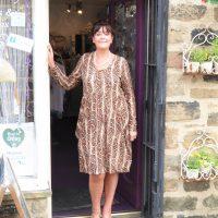 Brown Snakeskin Magic Dress
