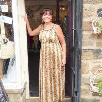 Brown Snakeskin Maxi Dress