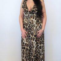 Leona Leopard Maxi Dress