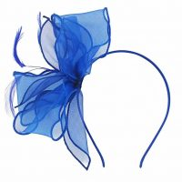 Royal Blue Organza Fascinator.