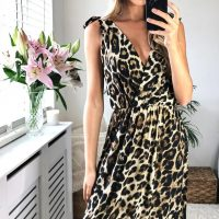 Leona Leopard Print Maxi Dress