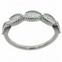 925 Silver Clear Band Ring