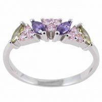 925 Silver Multi-Coloured Ring