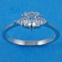 925 Silver Trio CZ Ring