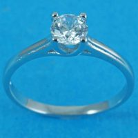 925 Silver Swirl Solitaire Ring