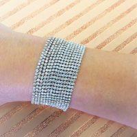 Gold Diamante Wide Bracelet